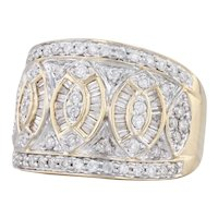 1.50ctw Pave Diamond Cocktail Ring 14k Yellow Gold Size 8.25