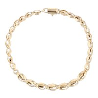"""Fancy Graduated Oval Link Chain 18k Yellow Gold 8"""" 5.6-4.6mm"""