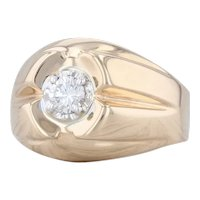 0.30ct Diamond Solitaire Ring 14k Yellow Gold Size 7.25