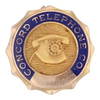 Concord Telephone Co Pin Vintage Utilities Company Service Lapel 10k Gold