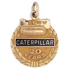 Caterpillar Tractor Company Charm 10k Gold 20 Years Service Award