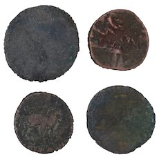 Ancient Coins Roman Artifacts Figural Mixed Lot of 4 B7936