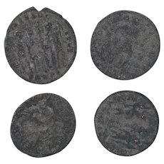 Ancient Coins Roman Artifacts Figural Mixed Lot of 4 B7937