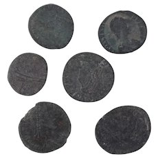 Ancient Coins Roman Artifacts Figural Mixed Lot of 6 B7938