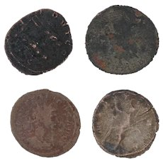 Ancient Coins Roman Artifacts Figural Mixed Lot of 4 B7943