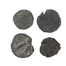 Ancient Coins Roman Artifacts Figural Mixed Lot of 4 B7945