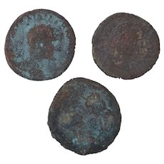 Ancient Coins Roman Artifacts Figural Mixed Lot of 3 B7947
