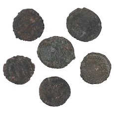 Ancient Coins Roman Artifacts Figural Mixed Lot of 6 B7948