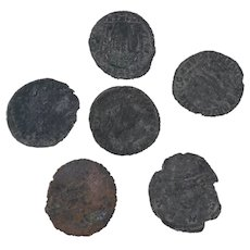 Ancient Coins Roman Artifacts Figural Mixed Lot of 6 B7950
