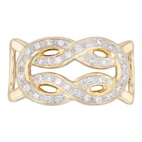 0.50ctw Diamond Knot Slide Pendant 18k Yellow Gold Statement