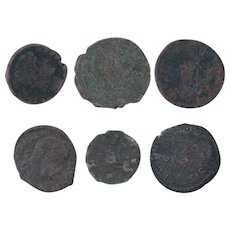 Ancient Coins Roman Artifacts Figural Mixed Lot of 6 B8034
