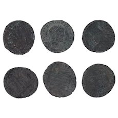 Ancient Coins Roman Artifacts Figural Mixed Lot of 6 B8038