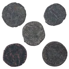 Ancient Coins Roman Artifacts Figural Mixed Lot of 6 B8040