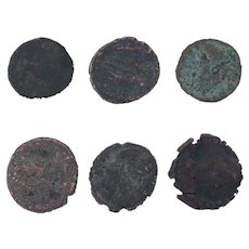 Ancient Coins Roman Artifacts Figural Mixed Lot of 6 B8041