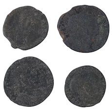 Ancient Coins Roman Artifacts Figural Mixed Lot of 4 B8045