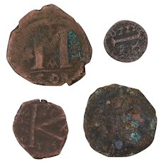 Ancient Coins Roman Artifacts Figural Mixed Lot of 4 B8047