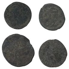 Ancient Coins Roman Artifacts Figural Mixed Lot of 4 B8050