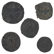 Ancient Coins Roman Artifacts Figural Mixed Lot of 5 B8058