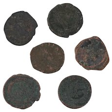 Ancient Coins Roman Artifacts Figural Mixed Lot of 6 B8060