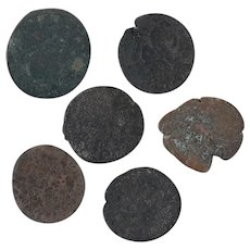 Ancient Coins Roman Artifacts Figural Mixed Lot of 6 B8061