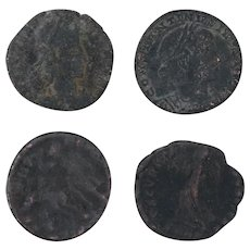 Ancient Coins Roman Artifacts Figural Mixed Lot of 4 B8065