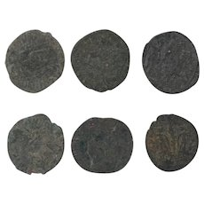 Ancient Coins Roman Artifacts Figural Mixed Lot of 6 B8066