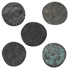 Ancient Coins Roman Artifacts Figural Mixed Lot of 5 B8067