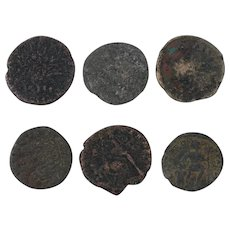 Ancient Coins Roman Artifacts Figural Mixed Lot of 6 B8068