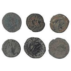 Ancient Coins Roman Artifacts Figural Mixed Lot of 6 B8069