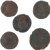 Ancient Coins Roman Artifacts Figural Mixed Lot of 5 B8071