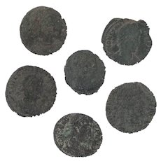 Ancient Coins Roman Artifacts Figural Mixed Lot of 6 B8157