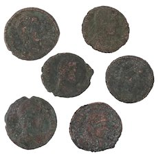 Ancient Coins Roman Artifacts Figural Mixed Lot of 6 B8158