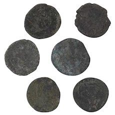 Ancient Coins Roman Artifacts Figural Mixed Lot of 6 B8159