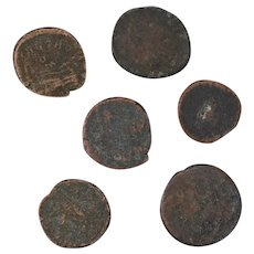 Ancient Coins Roman Artifacts Figural Mixed Lot of 6 B8161