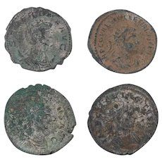 Ancient Coins Roman Artifacts Figural Mixed Lot of 4 B8163