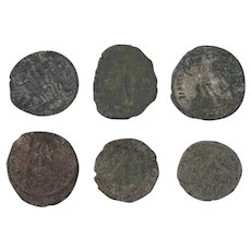 Ancient Coins Roman Artifacts Figural Mixed Lot of 6 B8165