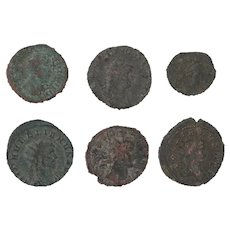 Ancient Coins Roman Artifacts Figural Mixed Lot of 6 B8167