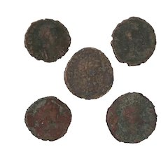 Ancient Coins Roman Artifacts Figural Mixed Lot of 5 B8218