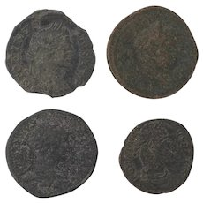Ancient Coins Roman Artifacts Figural Mixed Lot of 4 B8220
