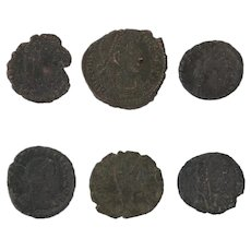 Ancient Coins Roman Artifacts Figural Mixed Lot of 6 B8221