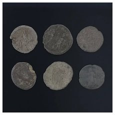 Ancient Coins Roman Artifacts Figural Mixed Lot of 6 B8223