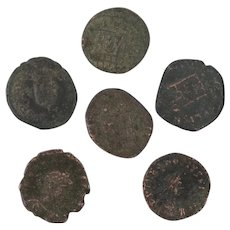 Ancient Coins Roman Artifacts Figural Mixed Lot of 6 B8225