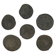 Ancient Coins Roman Artifacts Figural Mixed Lot of 6 B8226