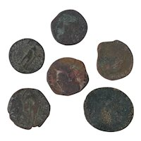 Ancient Coins Roman Artifacts Figural Mixed Lot of 6 B8228