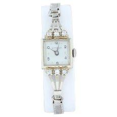 Ladies Wittnauer Watch - .30ctw Diamonds 14k Case Gold Filled Band Quartz