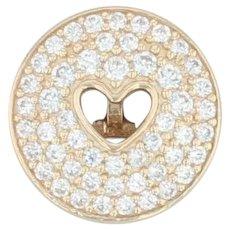New Authentic Pandora Heart of Luxury Clip Charm 757557CZ 14k Gold Clear CZ