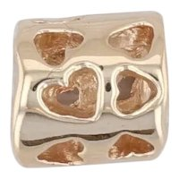 Authentic Pandora Tunnel of Love Charm 750118 14k Gold Hearts 585 ALE