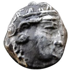 Ancient, archaic style Greek Athens solid silverTetadarachm coin old collection