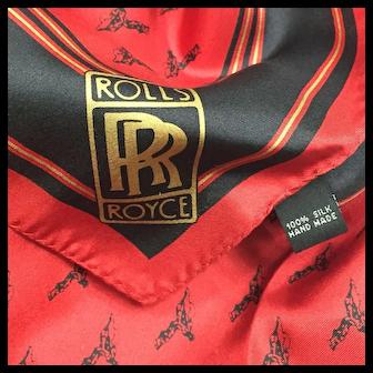 Rolls Royce Silk Scarf