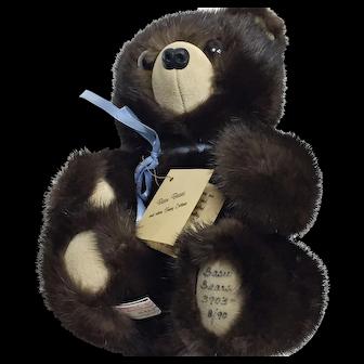 Limited Edition 3903 Basu Bears Vintage Fur Teddy Bear from 1990